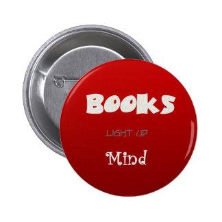 Los libros aclaran pin redondo de 2 pulgadas