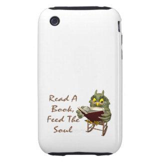 Los libros alimentan a alma el búho sabio funda though para iPhone 3