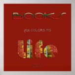 Los libros añaden colores poster