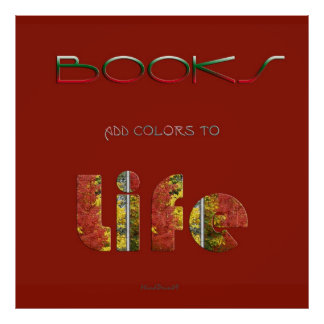 Los libros añaden colores póster