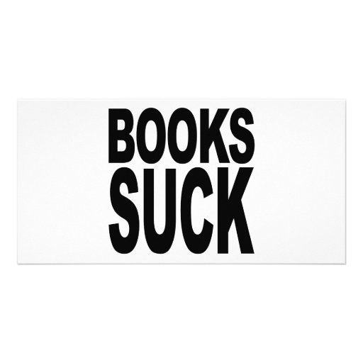 Los libros chupan tarjeta fotografica personalizada