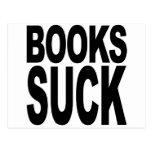 Los libros chupan tarjeta postal