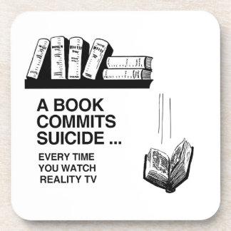 LOS LIBROS CONFÍAN SUICIDIO POSAVASOS DE BEBIDA