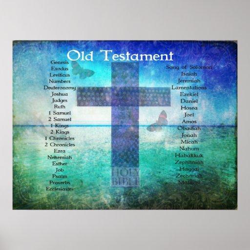 Los libros de la biblia del VIEJO testamento enume Posters