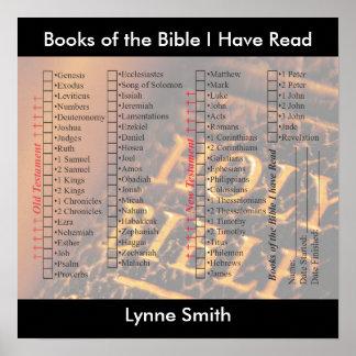 Los libros de la biblia he leído el cartel persona posters