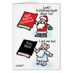 Los libros de niños de Santa y de dios Tarjeta