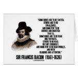 Los libros de sir Francis Bacon que se leerán cita Tarjetón