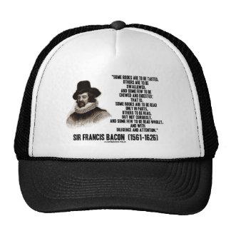 Los libros de sir Francis Bacon que se leerán Gorras