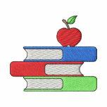 Los libros del profesor camiseta polo bordada