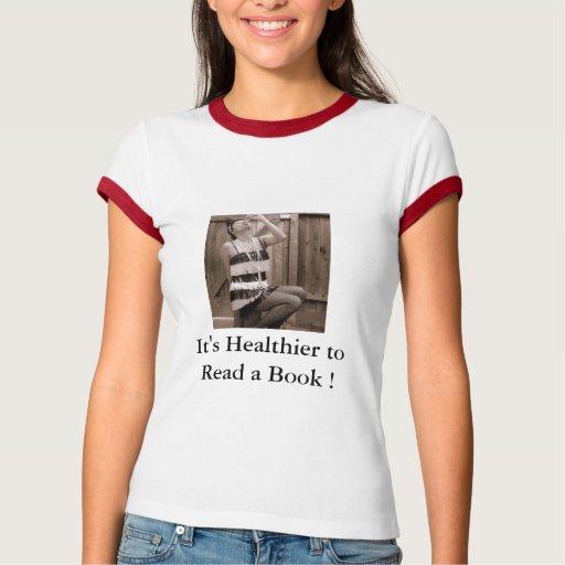 los libros del t de la camiseta de las mujeres que