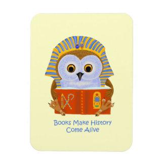 Los libros hacen que la historia viene vivo iman de vinilo