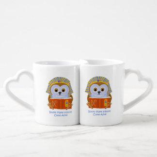 Los libros hacen que la historia viene vivo set de tazas de café