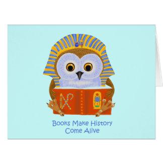 Los libros hacen que la historia viene vivo tarjeta de felicitación grande