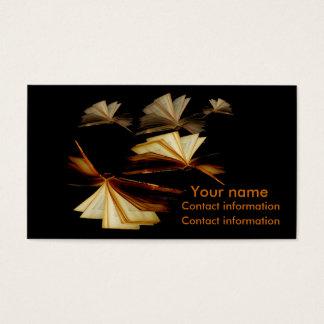 Los libros le dan las alas tarjeta de negocios