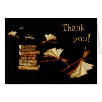 ¡Los libros le toman lugares, gracias! Tarjeta De Felicitación