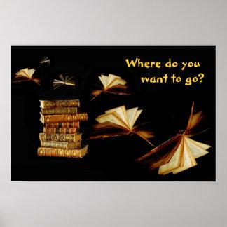 Los libros le toman lugares poster