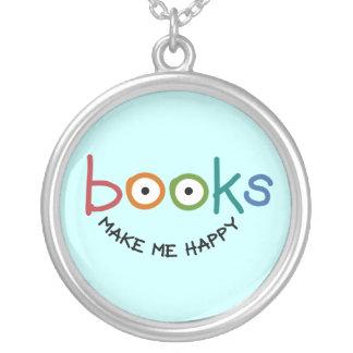 Los libros me hacen feliz colgantes