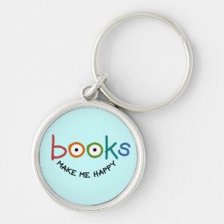 Los libros me hacen feliz llavero personalizado