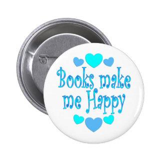 Los libros me hacen feliz pin