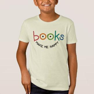 Los libros me hacen feliz playera