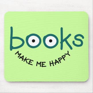 Los libros me hacen feliz alfombrilla de ratones