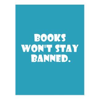 Los libros no permanecerán prohibidos postal