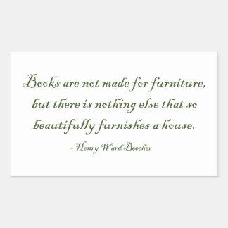 Los libros no se hacen para los muebles rectangular altavoz