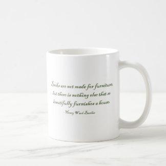 Los libros no se hacen para los muebles taza básica blanca