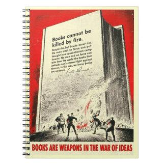Los libros no se pueden matar por el fuego spiral notebook