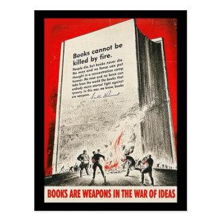Los libros no se pueden matar por el fuego postales