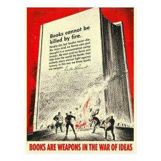 Los libros no se pueden matar por la postal del