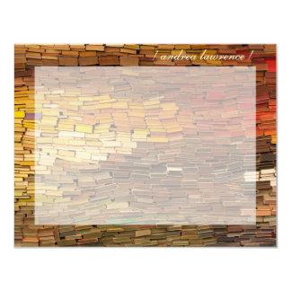 Los libros personalizaron tarjetas de nota planas invitación 10,8 x 13,9 cm