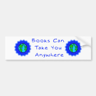 Los libros pueden tomarle pegatinas para el parach pegatina de parachoque