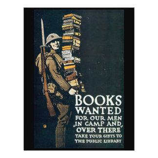 """Los libros quisieron la Segunda Guerra Mundial Folleto 8.5"""" X 11"""""""