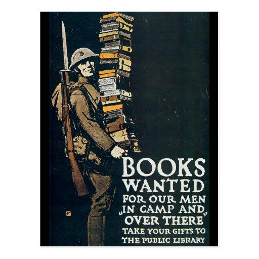 Los libros quisieron la Segunda Guerra Mundial Tarjetas Postales