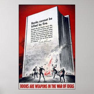 Los libros son armas impresiones