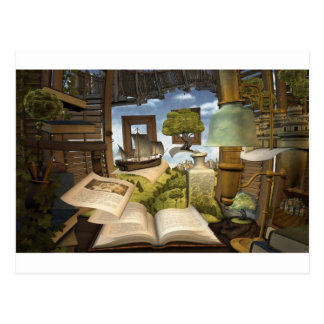 ¡Los libros son conocimiento! Postal