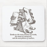 Los libros son constantes alfombrillas de ratones