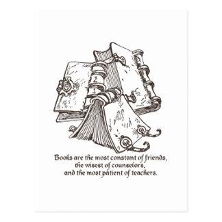Los libros son constantes postal