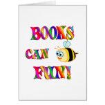 Los libros son diversión felicitaciones