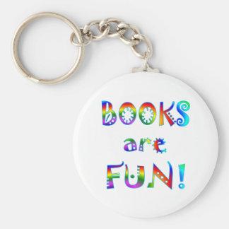 Los libros son diversión llavero personalizado