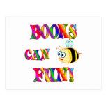 Los libros son diversión postal
