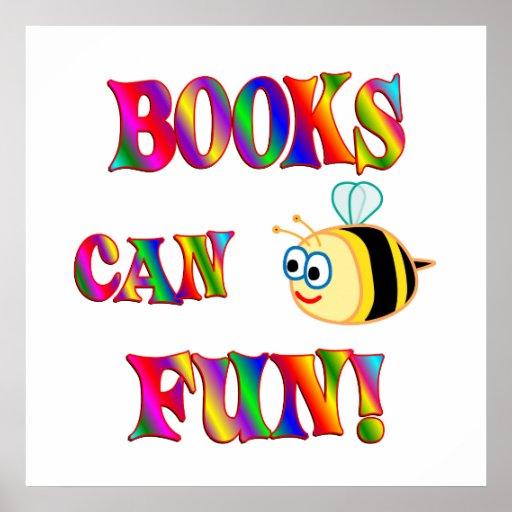 Los libros son diversión poster