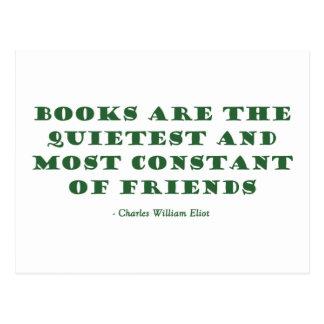 Los libros son el los más reservados y más constan