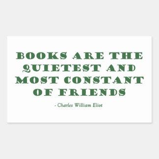 Los libros son el los más reservados y más pegatina rectangular