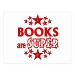 Los libros son estupendos postales
