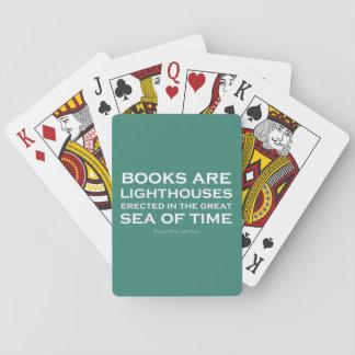 Los libros son faros barajas de cartas