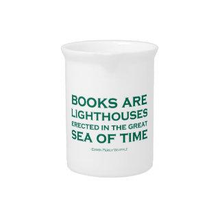 Los libros son faros jarrones