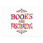 Los libros son fascinadores postal