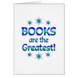 Los libros son los más grandes tarjeta